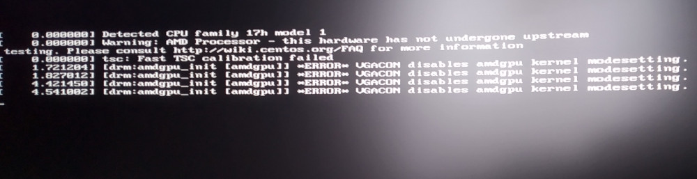 Errors after boot.